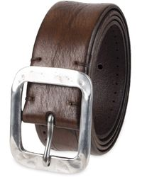 John Varvatos Leather Belts For Dress Casual For Jeans - Brown