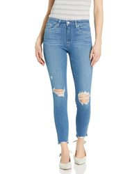 PAIGE Hoxton Transcend High Rise Ultra Skinny Ankle Jean - Blue