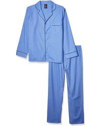 Hanes Woven Plain-weave Pajama Set - Blue