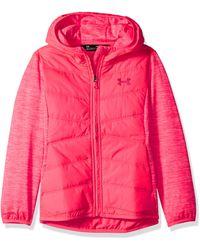 NWT Big Girls Under Armour Minaret Vista Hooded Hybrid Jacket