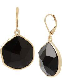 Kenneth Cole Stone Drop Earrings - Black