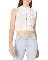 Plenty by Tracy Reese Cropped Victorian Top - White