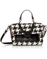 Betsey Johnson Hounds Town Top Handle Bag - Black