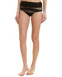 Ella Moss High Waist Swimsuit Bikini Bottom - Black