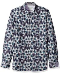 Ted Baker - Karaf Modern Slim Fit Ls Palm Printed Shirt - Lyst