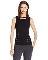 Calvin Klein - Lace Up Shell - Lyst