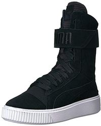 Lyst - Puma Fierce Mid Sneakers In Black And Gold in Black c6c52a136