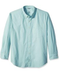 Izod Big Newport Long Sleeve Button Down Solid Oxford Shirt - Green
