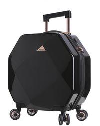 "Kensie 20"" Or 2 Piece Gemstone Tsa Lock Luggage Set - Black"