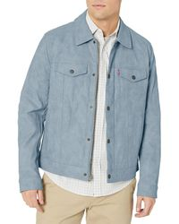 Levi's Suede Touch Trucker Jacket - Blue