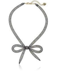 """Betsey Johnson """"memoirs Of Betsey"""" Mesh Bow Necklace - Multicolor"""