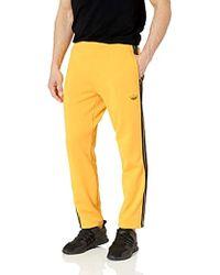 3 stripes Open Bottom Pants Yellow