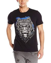 Just Cavalli - Lion's Head Slim Fit Tee Shirt - Lyst