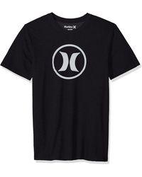 Hurley Nike Dri-fit Premium Short Sleeve Tshirt - Black