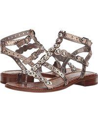 3bb69304dea9 Lyst - Sam Edelman Georgiana Flat Leather Sandals
