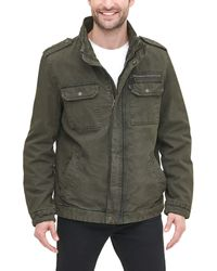 Levi's Washed Cotton Two Pocket Military Jacket - Vert