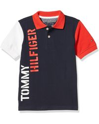 Tommy Hilfiger Boys Short Sleeve Colorblock Vertical Logo Polo