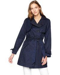 Jones New York Belted Trench Coat - Blue