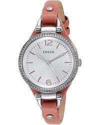 Fossil Es3468 Georgia Analog Display Analog Quartz Pink Watch