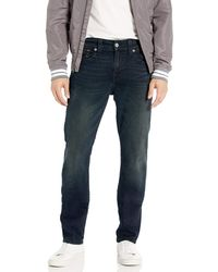 True Religion Geno Big T Low Rise Slim Fit Jean With Back Flap Pockets - Blue