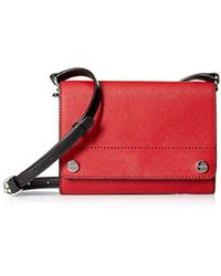 Calvin Klein - Saffiano Leather Flap Over Small Crossbody - Lyst