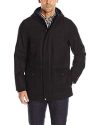 Tommy Hilfiger - Technical Wool Blend Hooded Stadium Jacket - Lyst