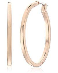 "Kenneth Cole - ""modern Essentials"" Medium Rose Gold Hoop Earrings - Lyst"