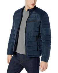 Marc New York Quinn Four Pocket Hooded Jacket - Blue