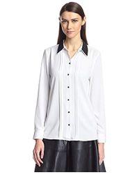SOCIETY NEW YORK - Double Collar Shirt - Lyst