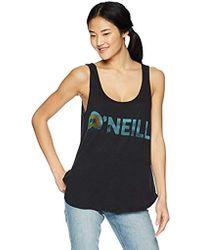 O'neill Sportswear - Aloha Island Screened Tank - Lyst