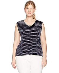 964d5a5113a9 Calvin Klein - Plus Size Short Sleeve Top With Curve Bar - Lyst