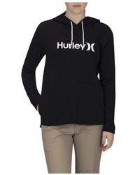 Hurley One & Only Fleece Hoodie Pullover Sweatshirt - Black
