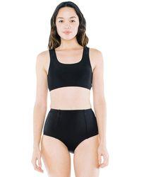 American Apparel High-waist Bikini Bottom - Black