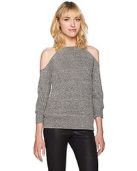 BB Dakota Corwin Lurex Cold Shoulder Sweater