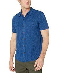 Lucky Brand Short Sleeve Button Up Shirt - Blue