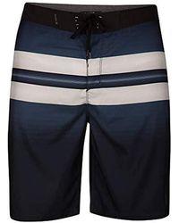 """Hurley Supersuede Printed 21"""" Inch Boardshort Swim Short - Blue"""