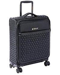 DKNY Signature Softside Spinner Luggage With Tsa Lock - Black