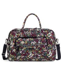 Vera Bradley Signature Cotton Weekender Travel Bag - Blue