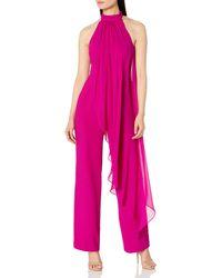 Trina Turk Black Tie Jumpsuit - Pink