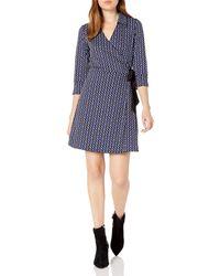 Laundry by Shelli Segal Reversible Matte Jersey Wrap Dress - Multicolor