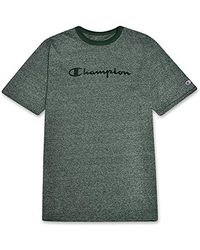 Champion S Big And Tall Cotton Graphic Tee - Green