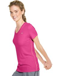 Champion Double Dry V-neck Tee - Pink