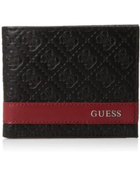 Guess Leather Slim Bifold Wallet - Mehrfarbig
