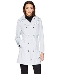 Calvin Klein - Double Breasted Rain Jacket With Hood - Lyst
