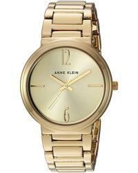 Anne Klein Ak/3168chgb Gold-tone Bracelet Watch - Metallic