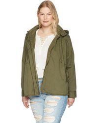 Lucky Brand Raw Edge Military Plus-size Jacket - Green
