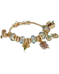 Napier Multi-colored Picnic Slider Charm Bracelet - Metallic