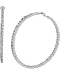 Jessica Simpson Chain Hoop Earrings - Metallic