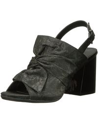 Kenneth Cole Reaction Reach Beyond Peep Toe Dress Sandal With Twisted Bow Detail - Black