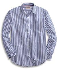 Goodthreads Standard-fit Long-sleeve Banker Striped - Blue